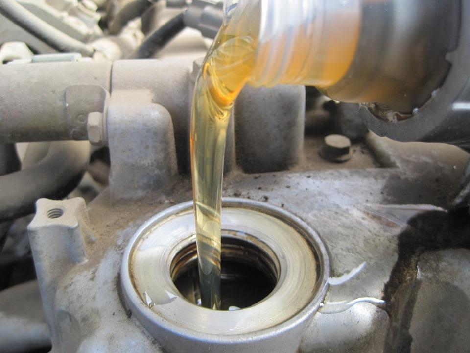 Замена масла Nissan Almera