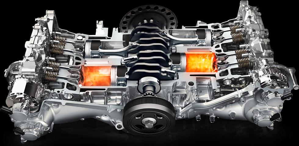 Горизонтально-оппозитный двигатель Subaru Boxer