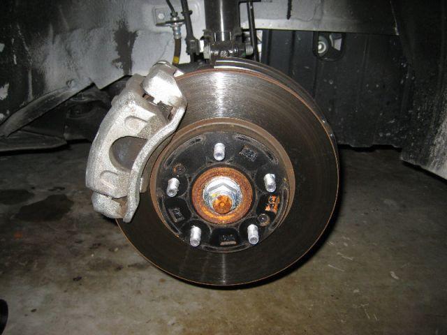 Снять колесо.